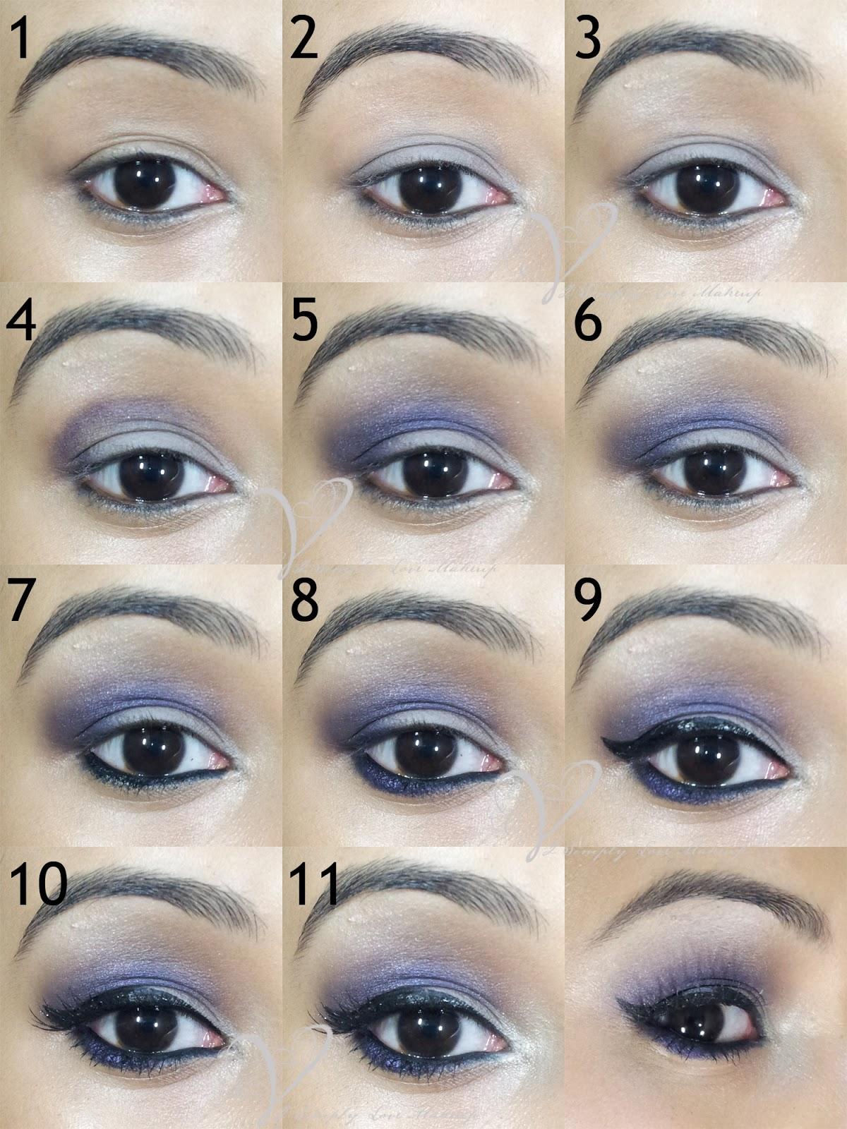 Tutorial Easy Purple Eye Makeup