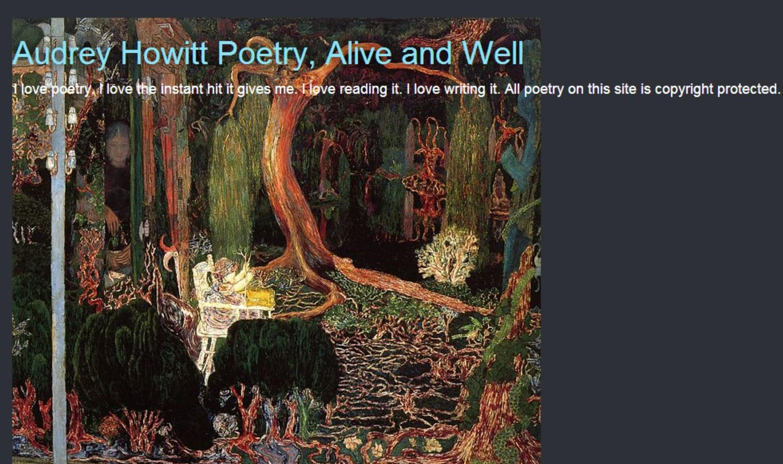 poets united life of a poet audrey howitt