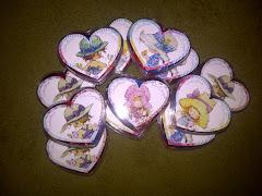 Alhajeros corazón con caramelos