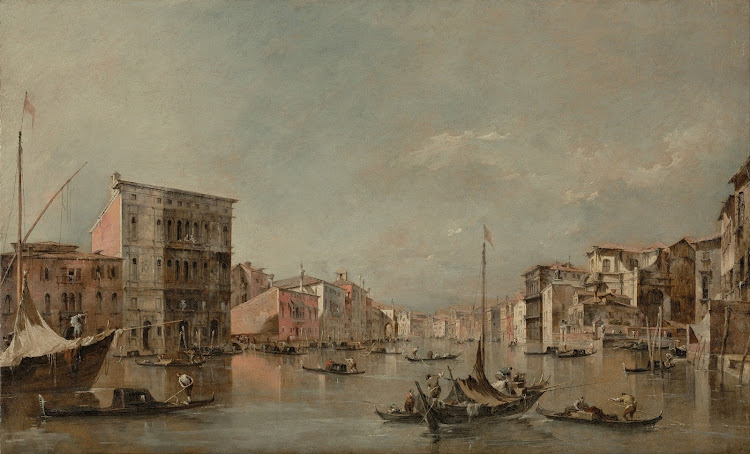 Francesco Guardi - The Grand Canal in Venice with the Palazzo Bembo