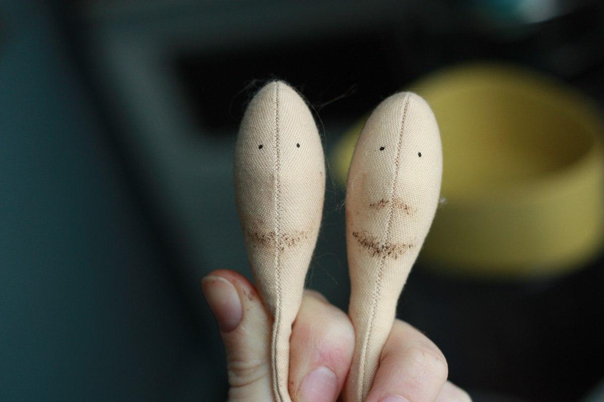 Борода для куклы мальчика тильда