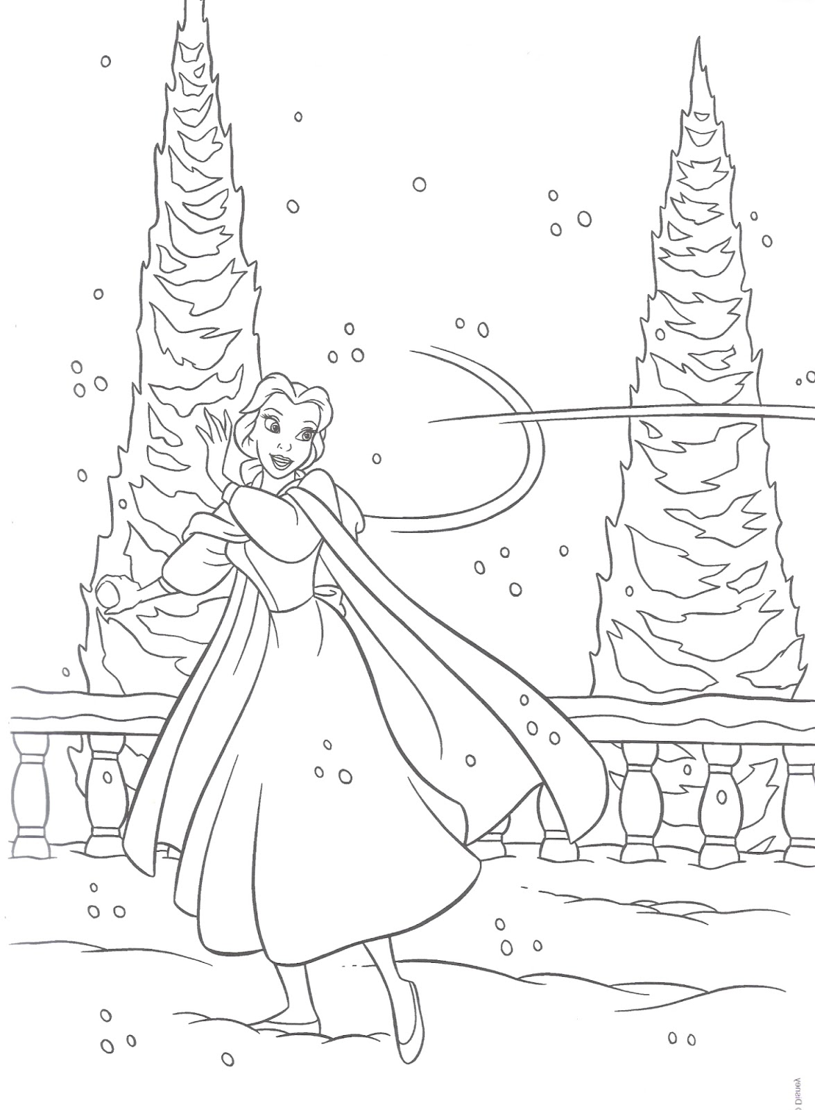 Princesas Disney: Dibujos para colorear - Princesas Disney (Navidad)