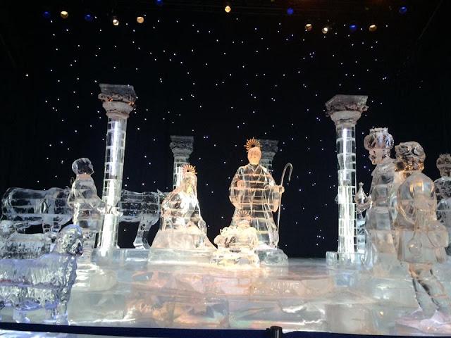 gaylord national ice nativity scene