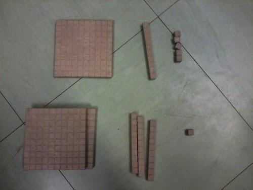 en classe avec montessori  la soustraction statique avec