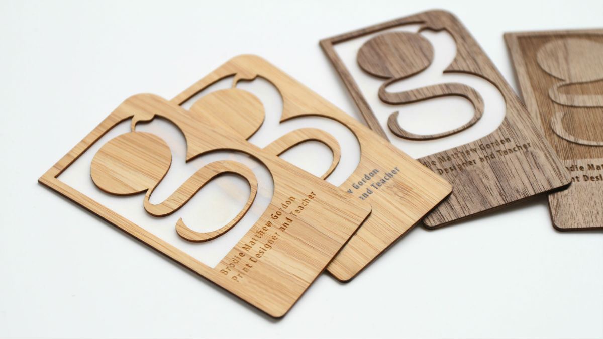 The Well-Appointed Catwalk: Renewable Bamboo Business Cards by Grovemade