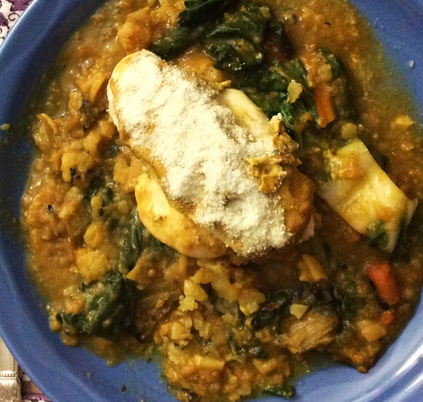 ... and the Vegetarian: Chard, Red Lentil & Potato Slow Cooker Soup