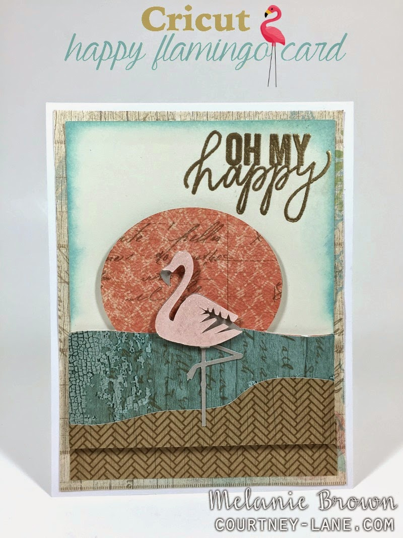 Cricut Happy Flamingo card