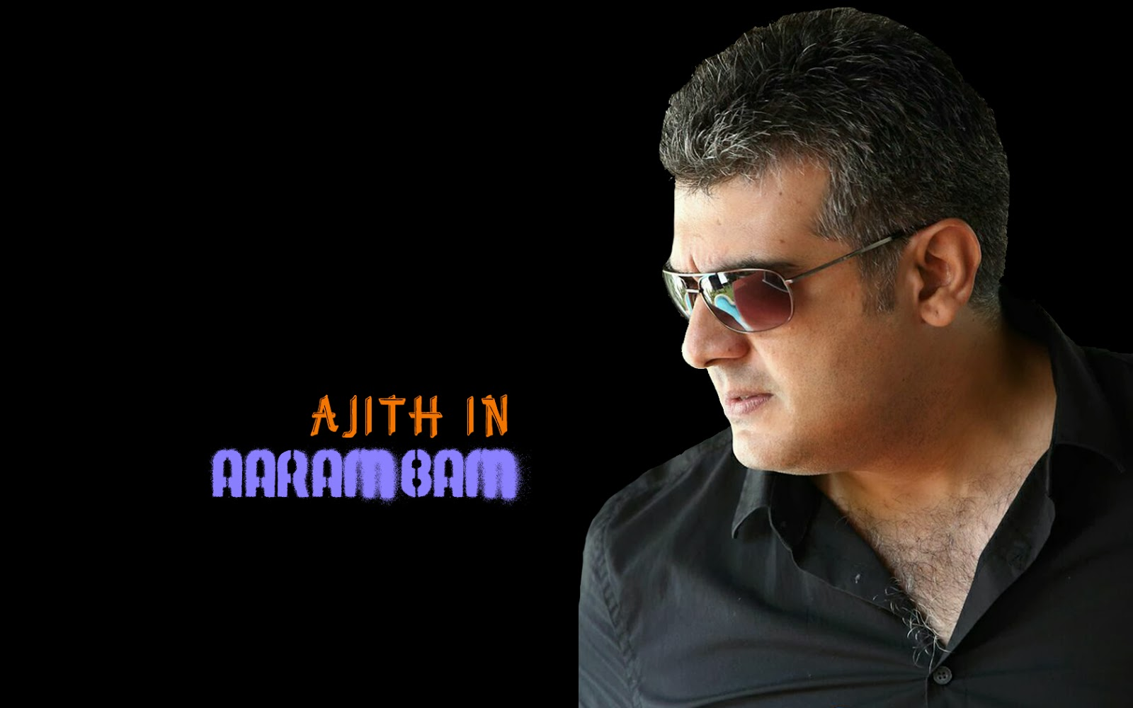 Wallpaper HD Ajith In Aarambam Poster
