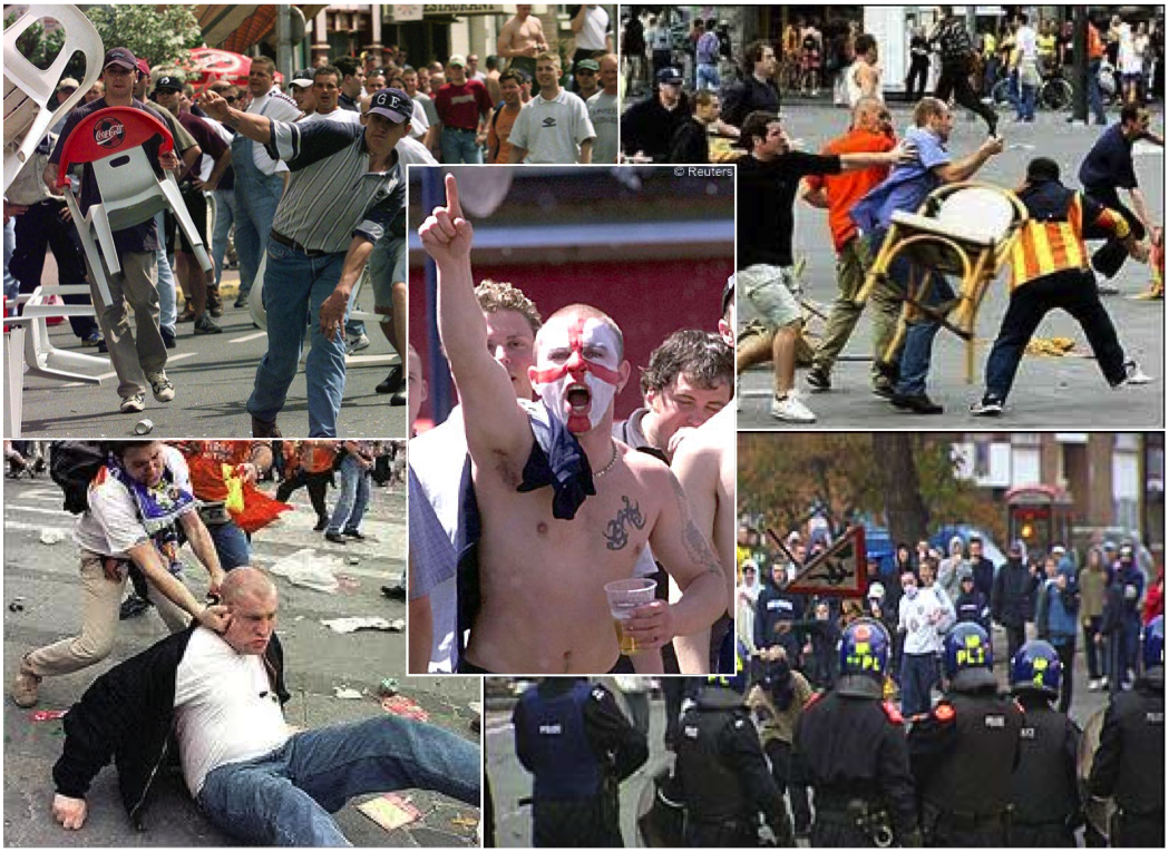 football hooligans Once a blight on english football, hooliganism has been all but eradicated at football grounds in the premier league era yet a pop culture fascination with football violence endures.