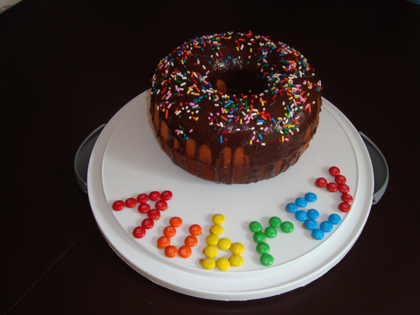 It So We Had A Giant Donut Cake For Her Third Birthday And Made Bakers Theme She Got Own Hat Apron With Name On Too