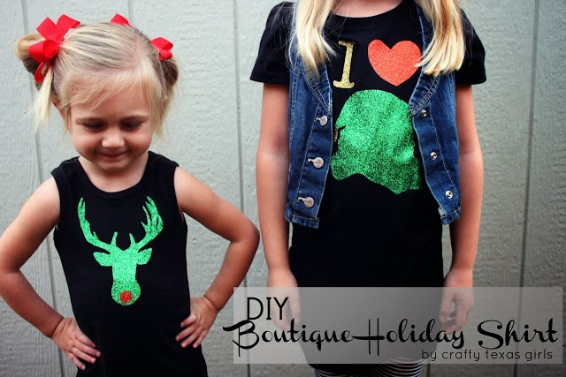 Diy Christmas Shirt For Kids Crafty Texas Girls