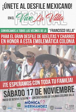 Festival Viva La Villa el Sábado 17 de noviembre