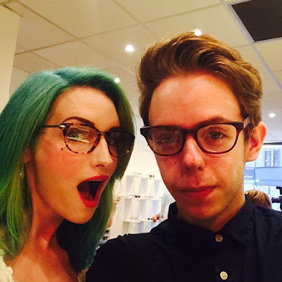 Beauty and The Boy with Kelly Bakewell wearing Iolla Glasses