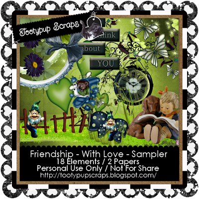 "Scrapbook Freebie ""Friendship"" by tootypupscraps"