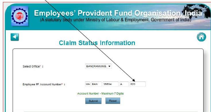 Status of pf claim in bangalore dating 7