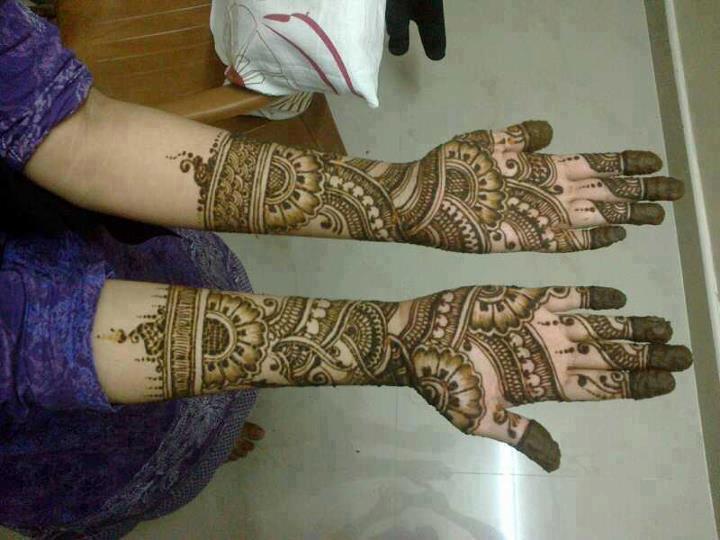 Chand raat mehndi henna designs 2014 - Indian Mehndi Designs 2014 For Girls Pakistani Fashion