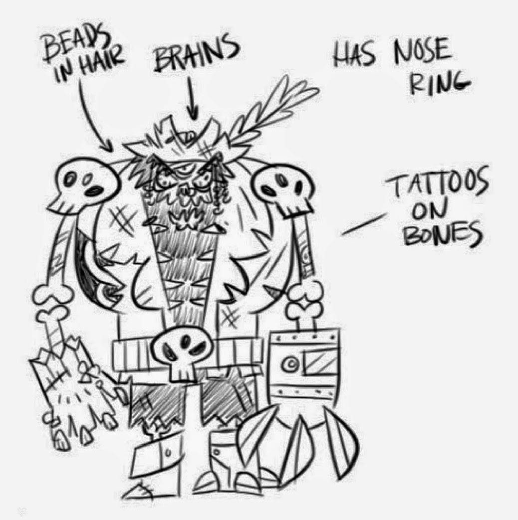 Galactic Hot Dogs zombie space pirate with artist notes