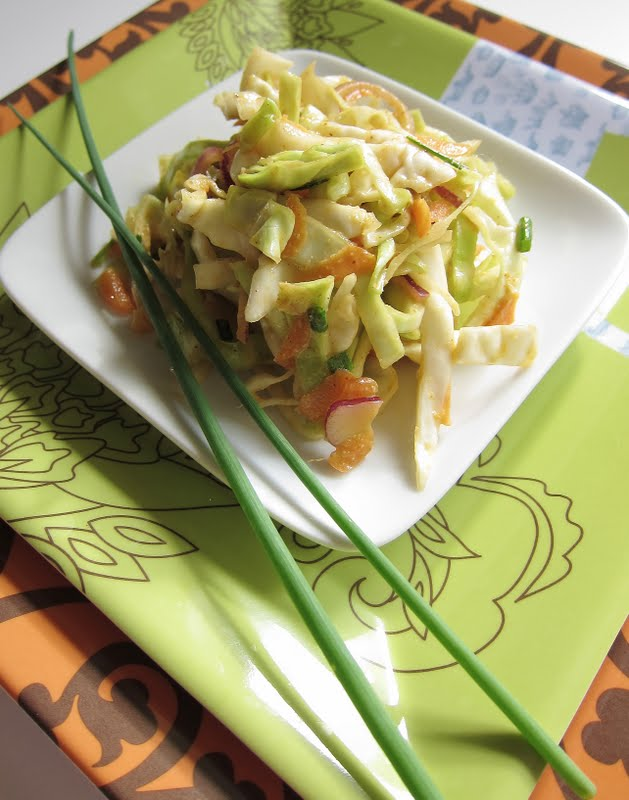 tri color slaw with lime dressing asian slaw with ponzu dressing ...
