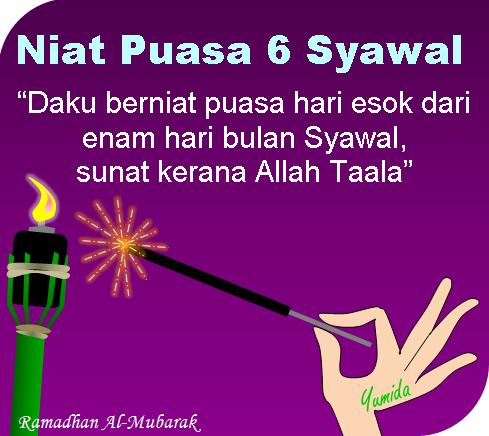 Lafaz Niat Puasa Sunat Enam Syawal | Puasa 6, kelebihan puasa 6 syawal.