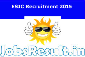 ESIC Recruitment 2015