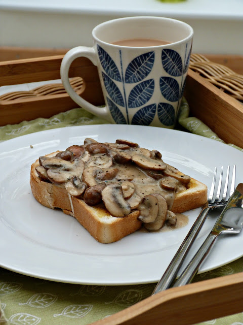 Mushrooms on toast with Giovanni Rana Butter and Sage sauce
