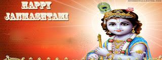 Krishna janmashtami fb cover wallpapers