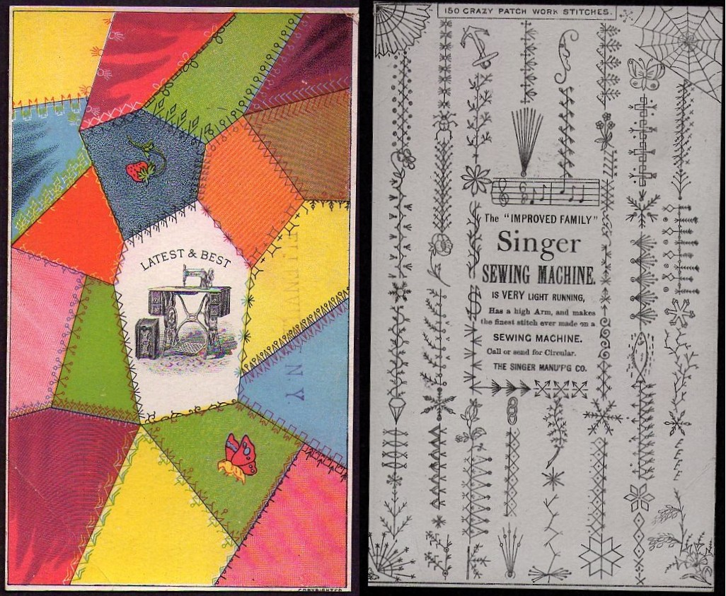 Quilt Papers 150 Crazy Patch Work Stitches