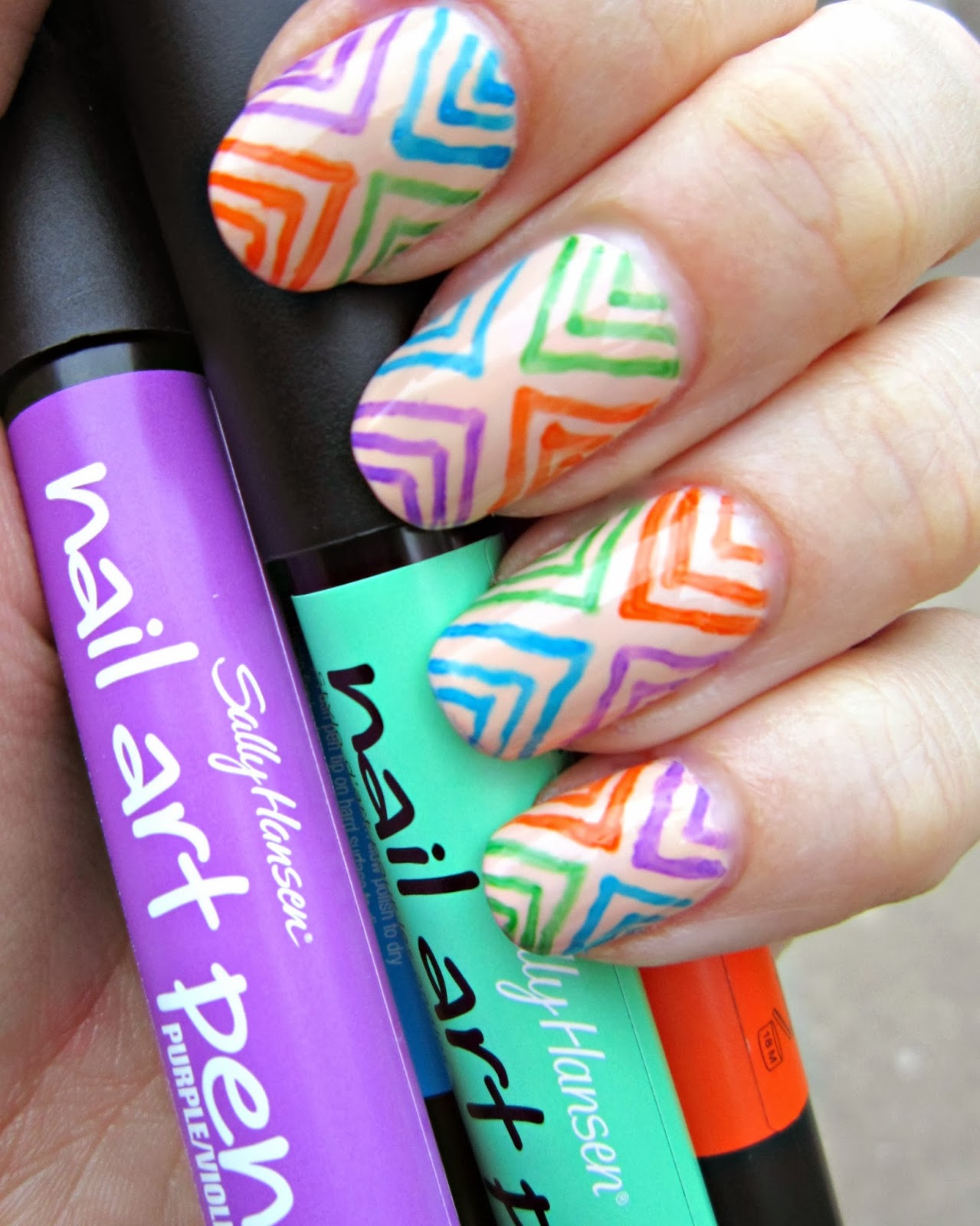 Concrete and Nail Polish: Fun Nail Art With Sally Hansen Nail Art ...