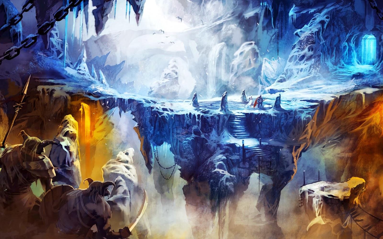 frozen cave in trine wallpapers - Frozen Cave in Trine 2 Wallpapers HD Wallpapers
