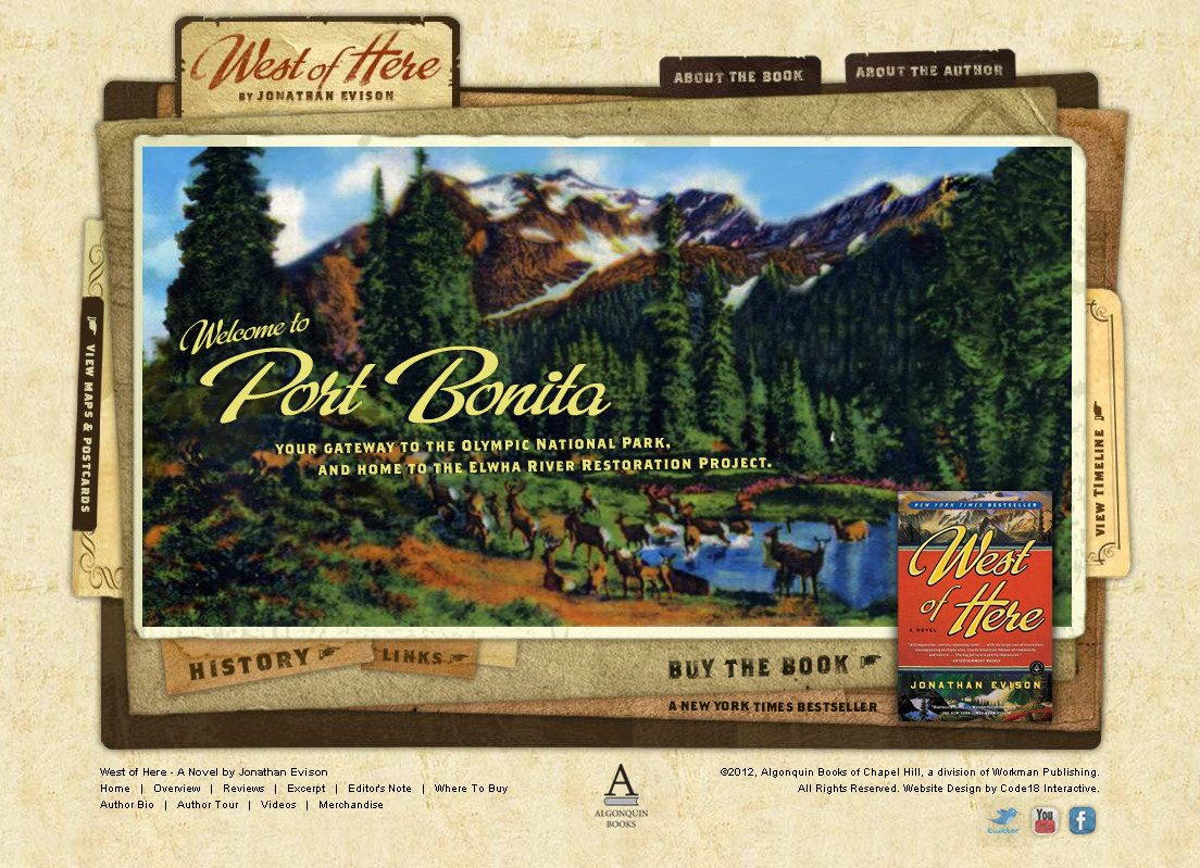 Port Bonita Homepage Note The Buy Link For West Of Here In The Lower Right  Of The Page