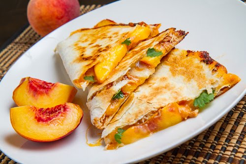 quesadillas grilled tequila chicken and hatch chile quesadillas peach ...