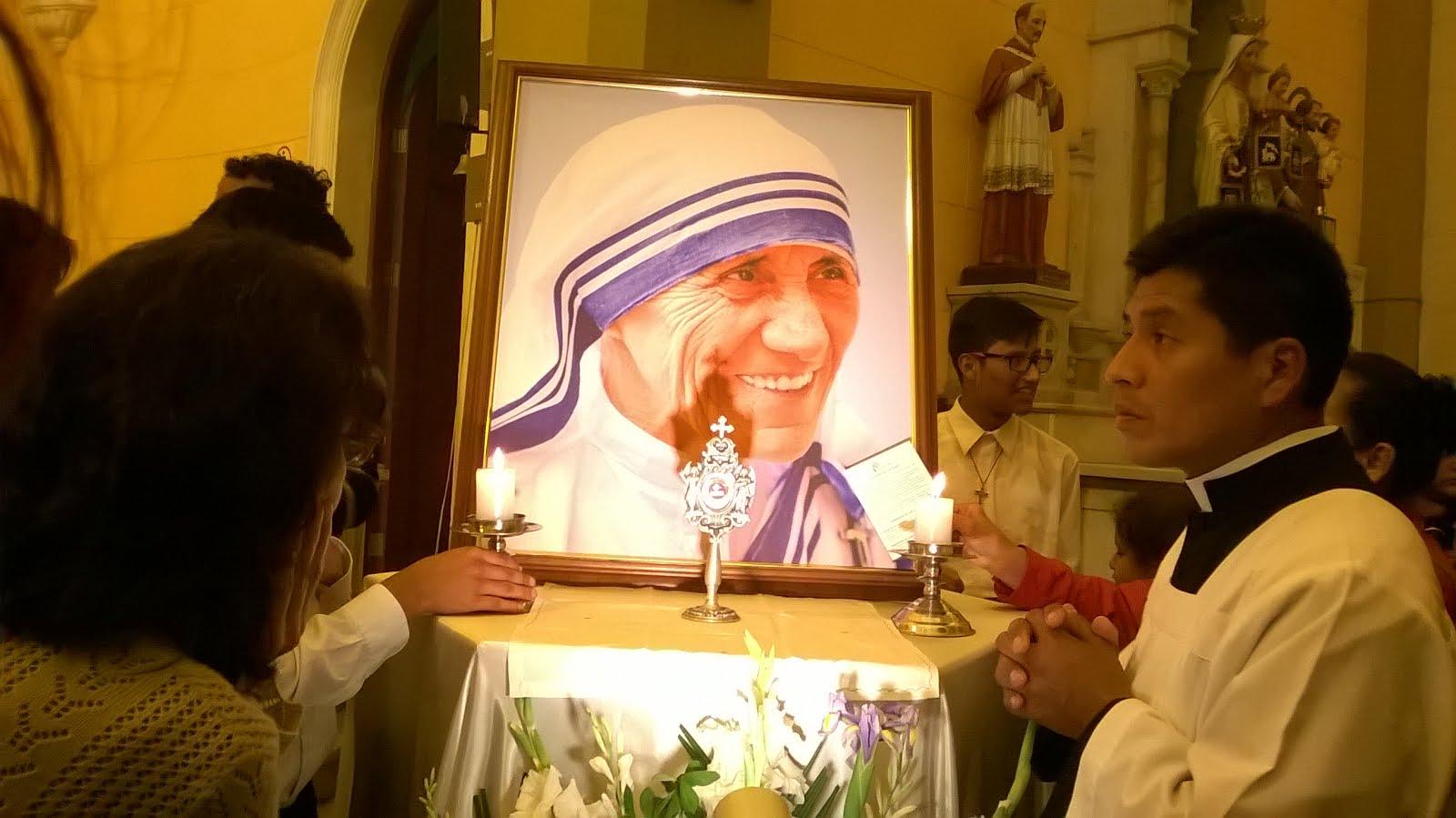 La reliquia de Santa Madre Teresa de Calcuta en Lima