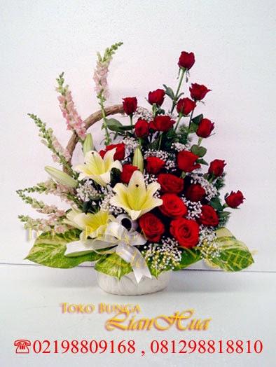 bunga meja peresmian kantor, karangan bunga meja ucapan selamat