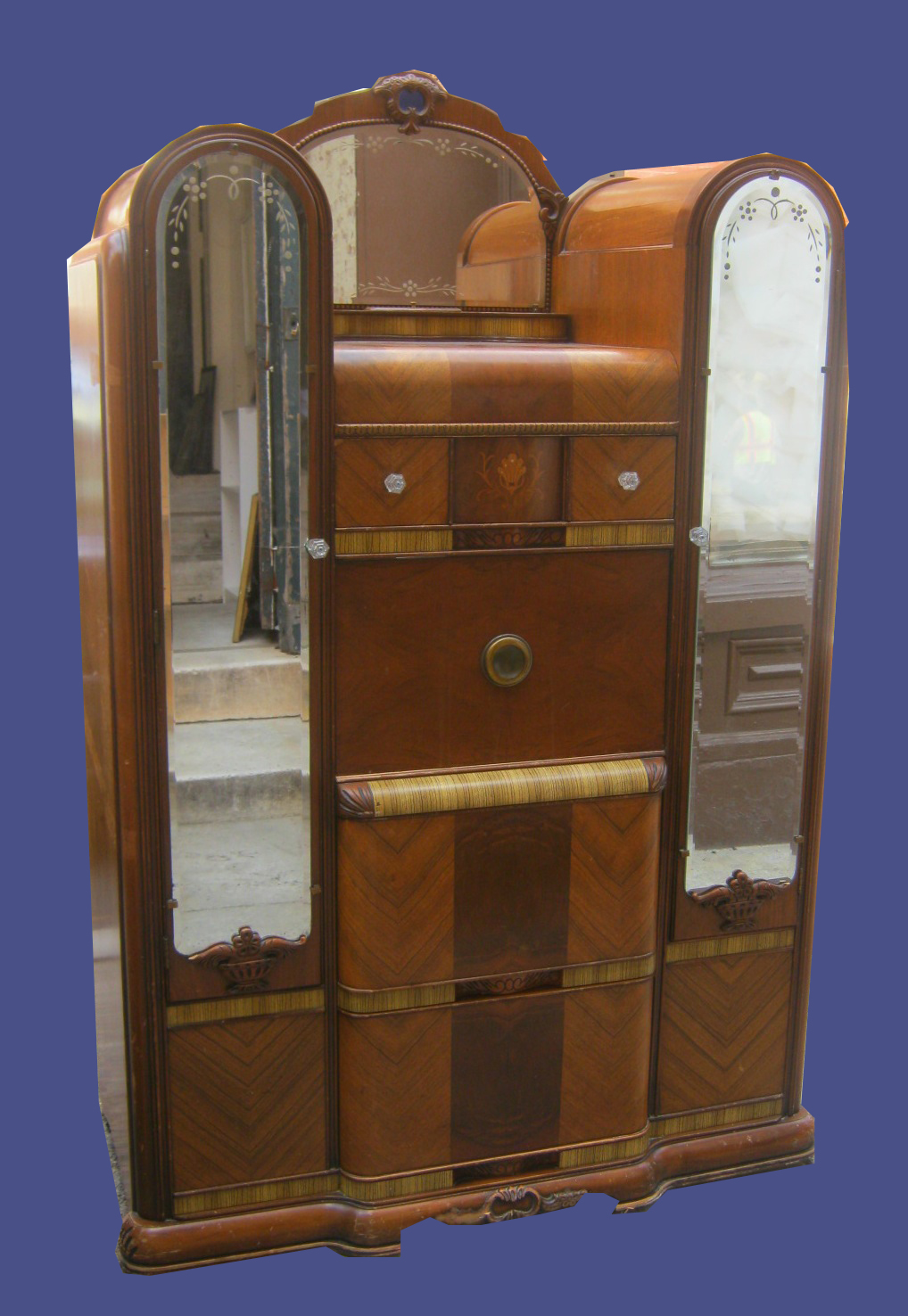 Uhuru furniture collectibles vintage waterfall armoire