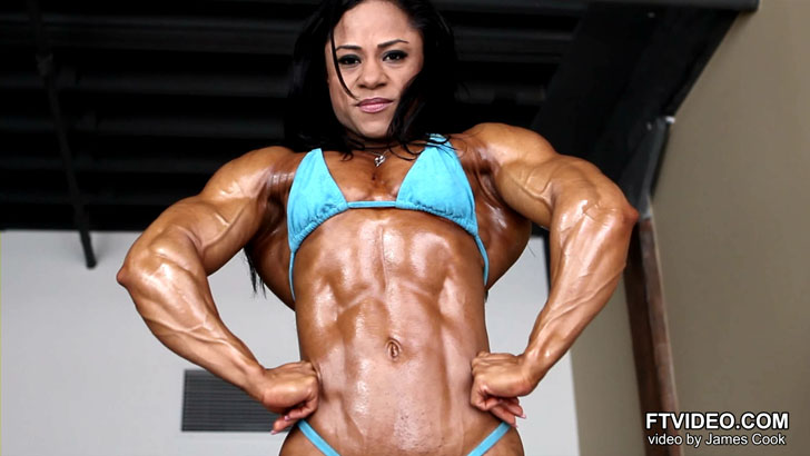 Kashma Maharaj Flexes Her Ripped Abs, Chest And Arms In A Bikini