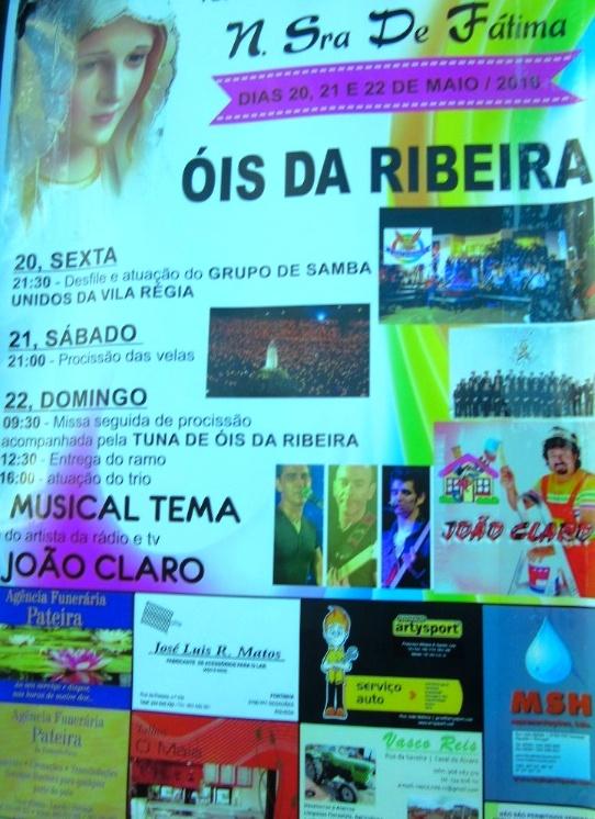 FESTAS DE NOSSA SENHORA DE FÁTIMA em 3 DIAS...