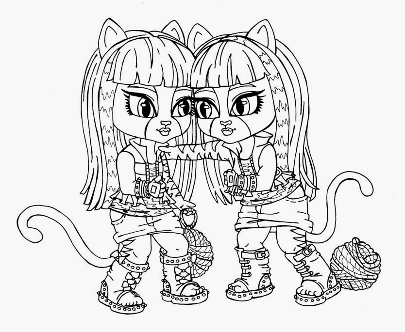 Monster High Bebes para Colorear, parte 2