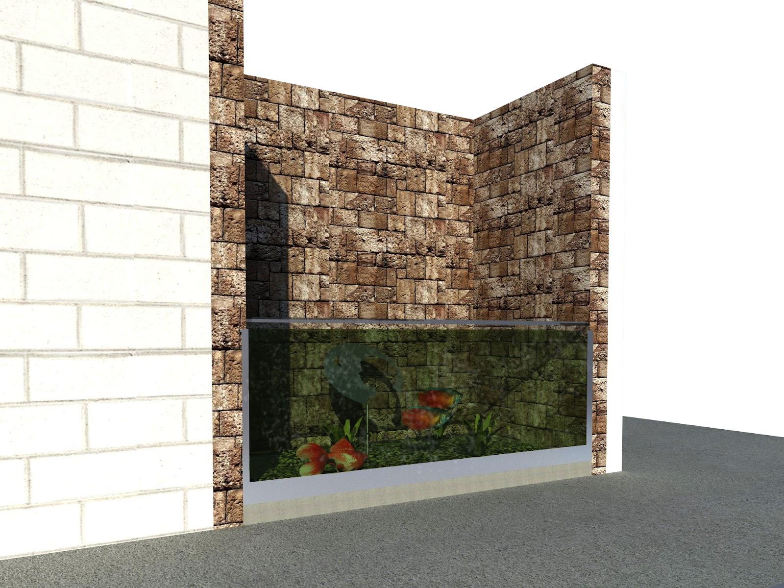 Bindack arquitectura digital render exterior acuario - Fuentes de pared modernas ...