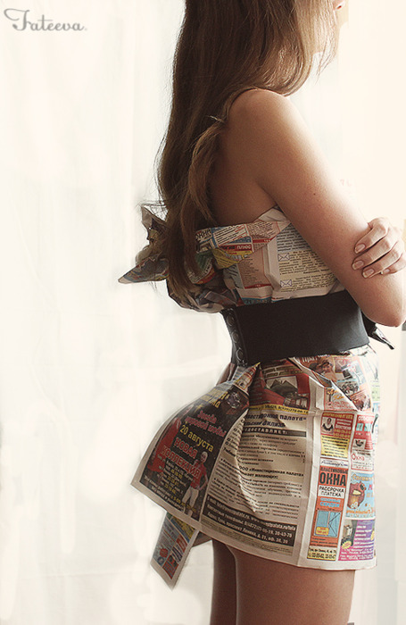 Newspaper Dress by © Fateeva