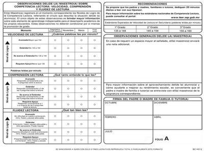 La competencia lectora en la boleta de evaluación | Apoyo Primaria