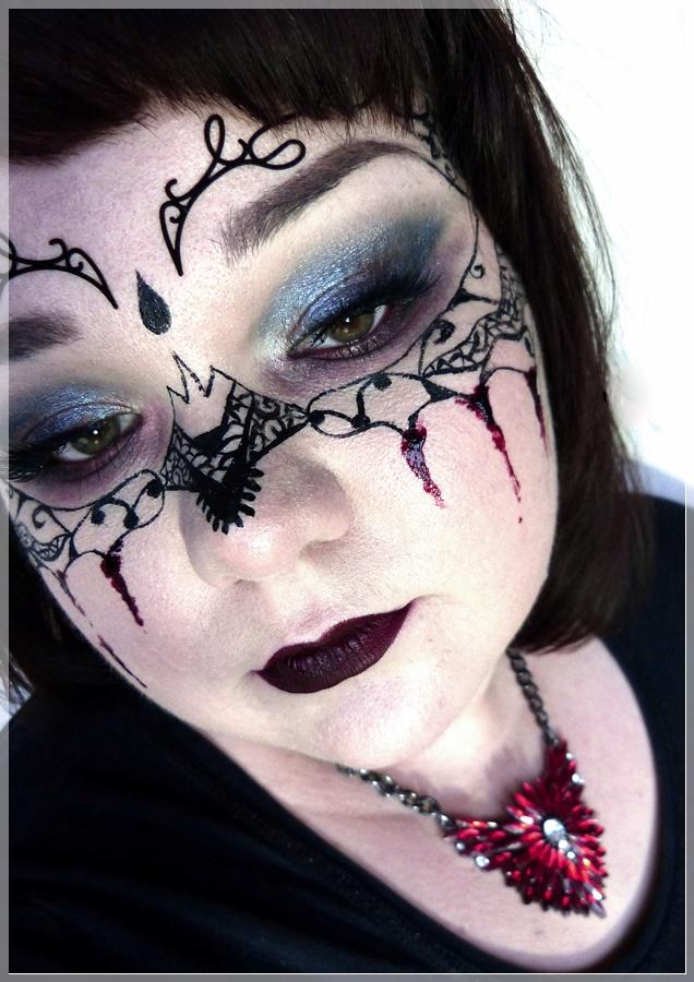 geschminkter Halloween-Look