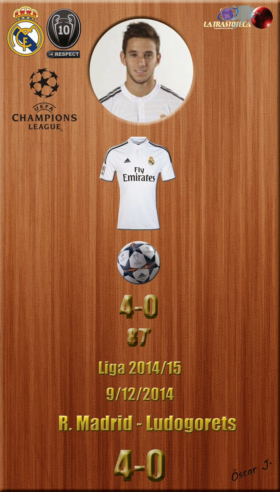Medrán (4-0) - Real Madrid 4-0 Ludogorets - Champions League 2014/15 - Jornada 6 - (9/12/2014)