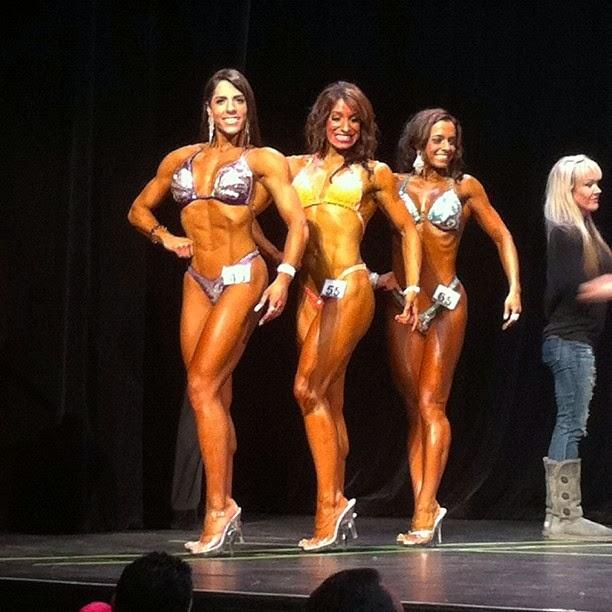 Nathalia Santoro competiu na categoria Figure em duas classes: Open e Novice Foto: Reprodução