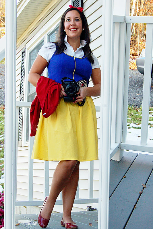 crafty teacher lady modern day snow white costume. Black Bedroom Furniture Sets. Home Design Ideas