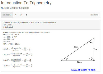 Introduction to Trigonometry Ex 8.1