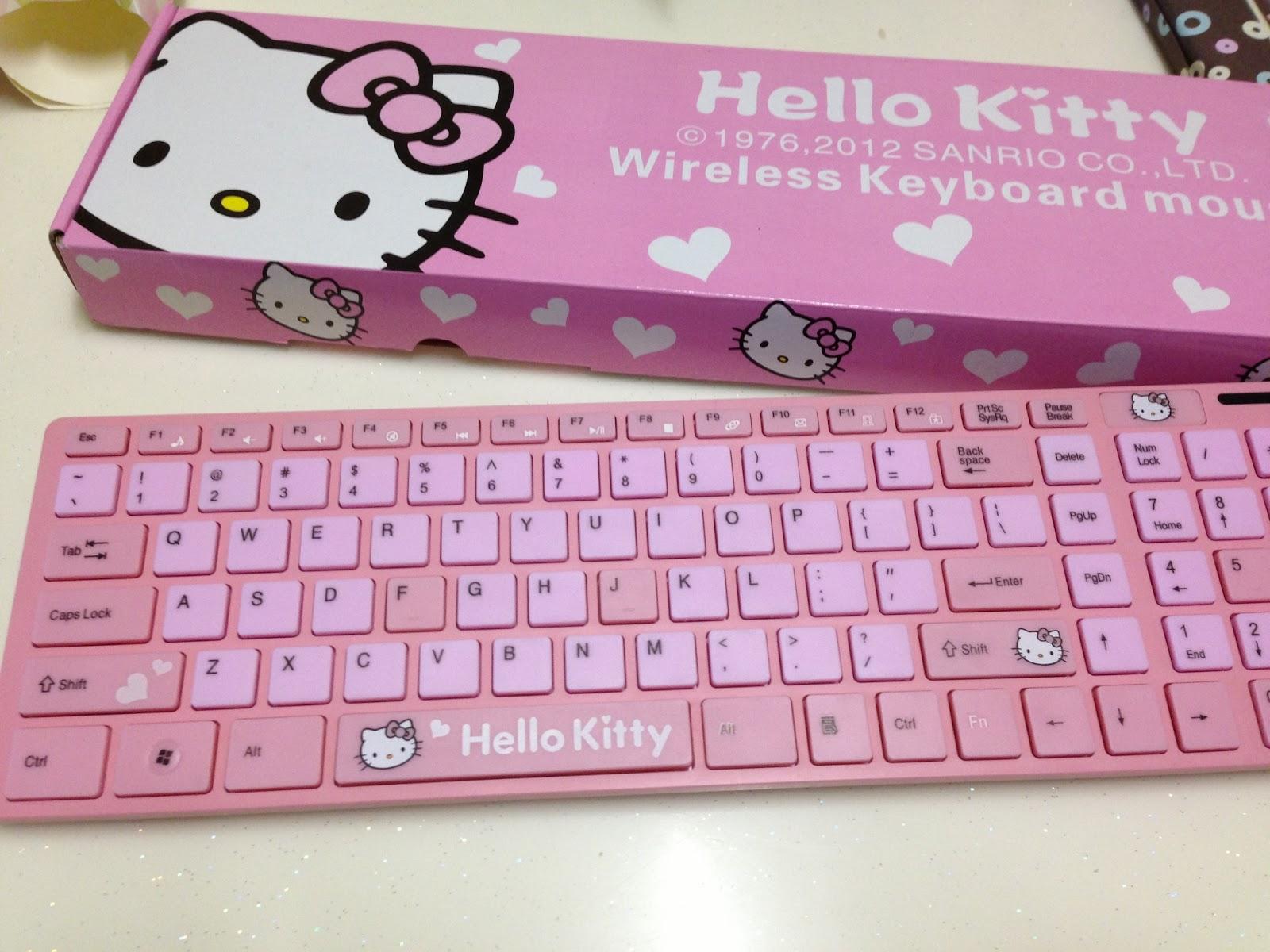 Hello Kitty Wireless Keyboard Wireless Pink Hello Kitty