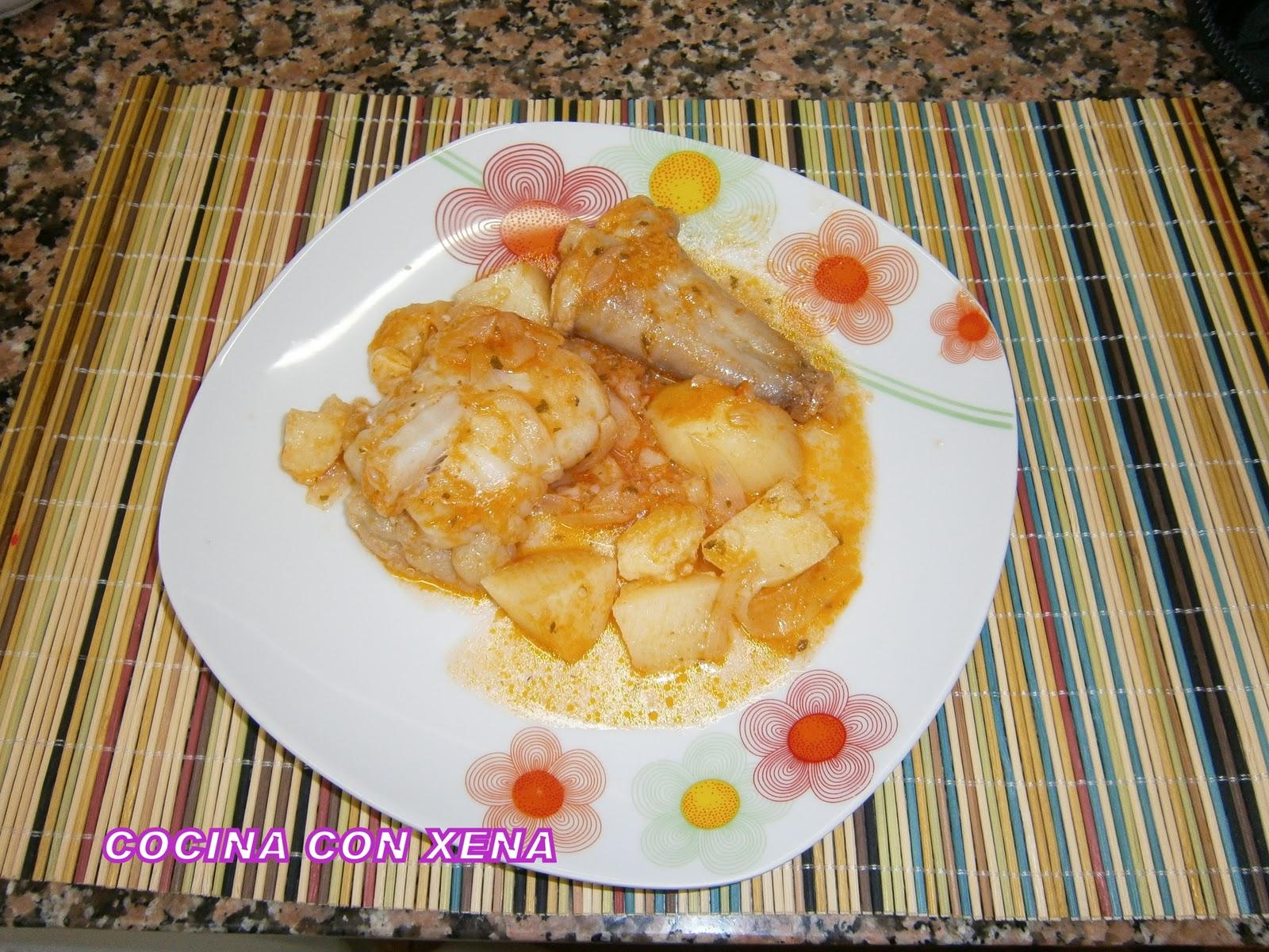 Cocina con xena guiso de rape con patatas en gm d for Cocina con xena olla gm d