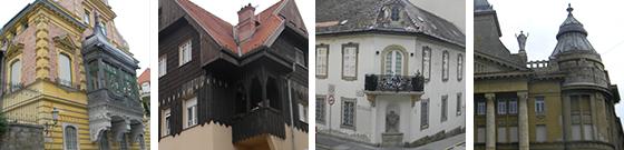 Budapest random buildings