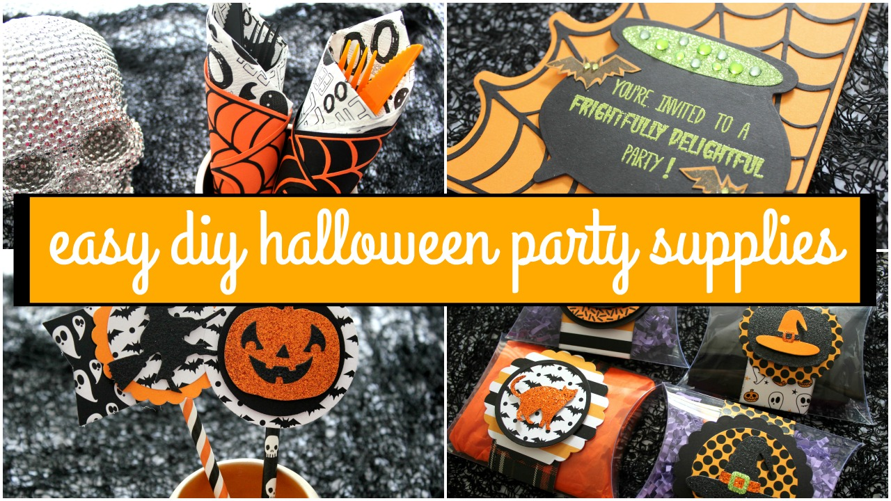 Easy diy halloween party supplies ft diemond dies for Halloween party favor ideas