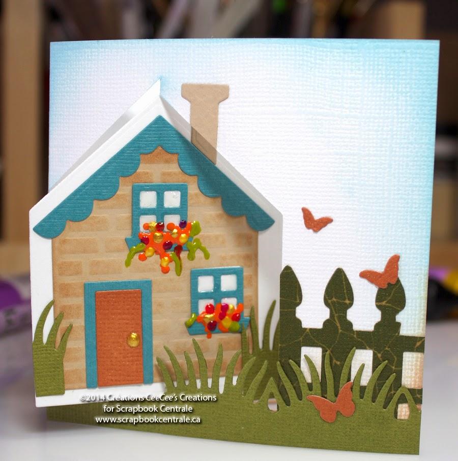scrapbook centrale carte maison pivot pop it ups house pivot card. Black Bedroom Furniture Sets. Home Design Ideas